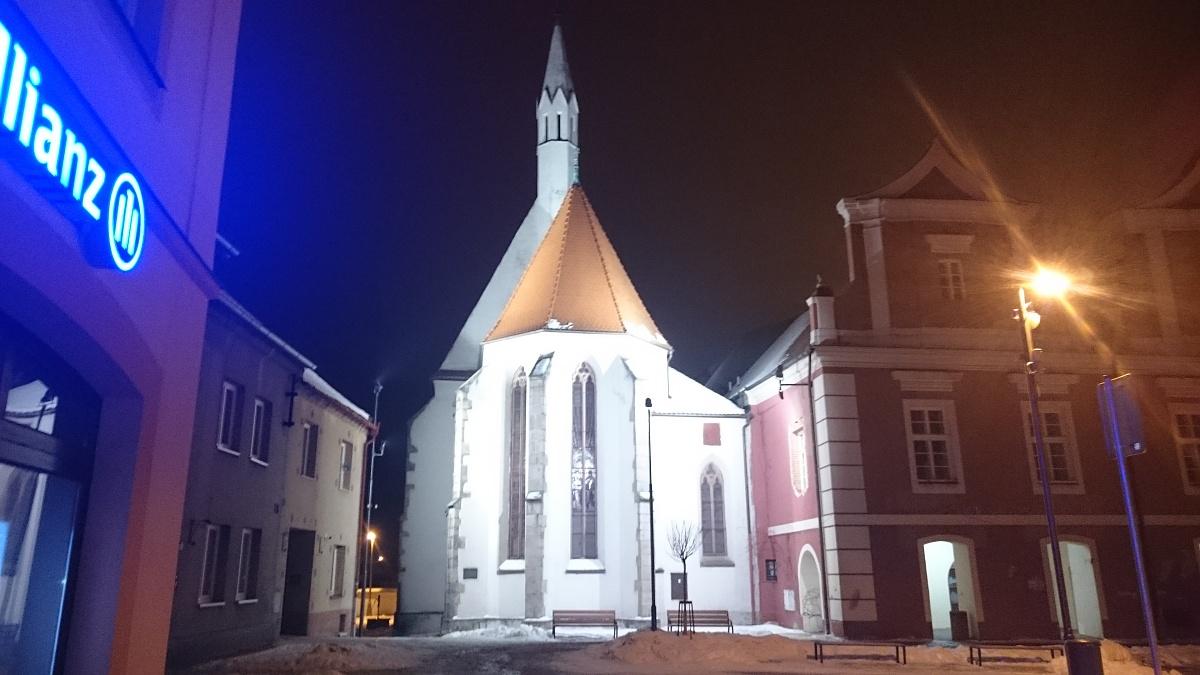 Osvětlení - kostel sv. Víta Soběslav
