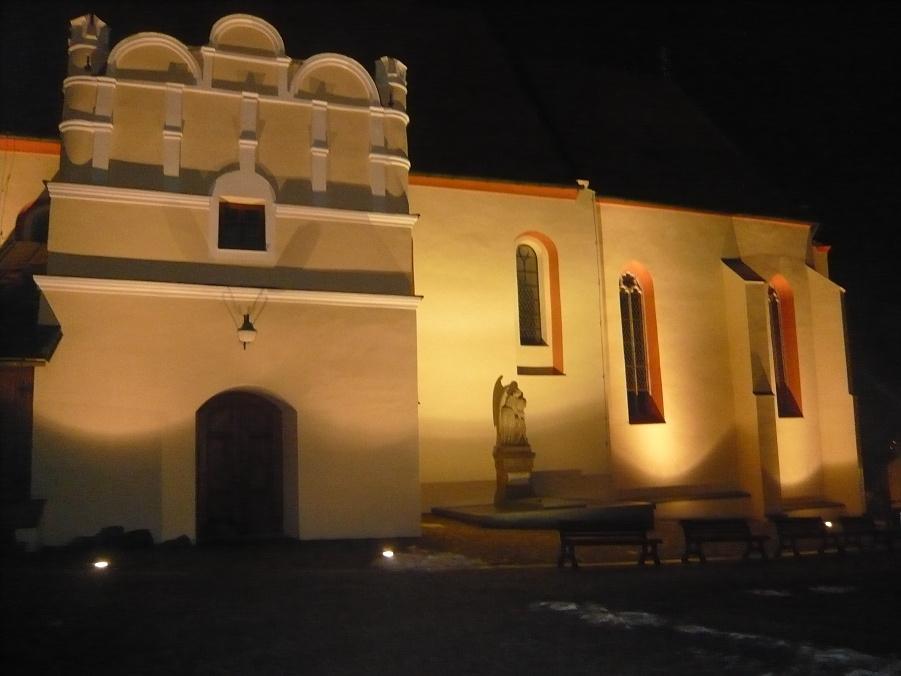 Osvětlení kostela - Povýšení svatého Kříže Veselí nad lužnicí 4