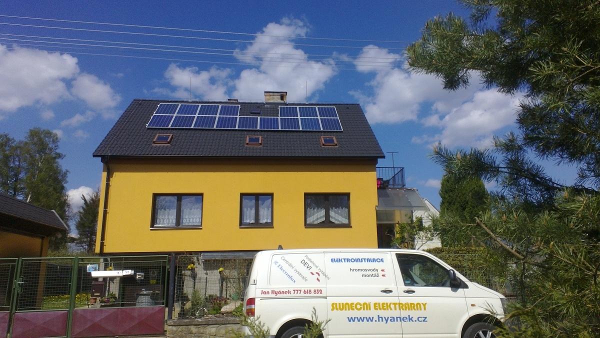 Fotovoltaika Jindřichův Hradec, Lásenice 4 kWp-16 kWh