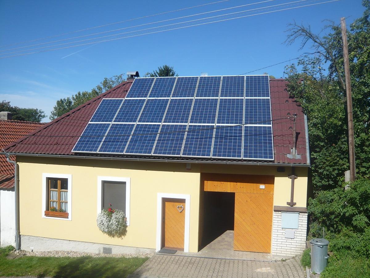 Fotovoltaika Načeradec 9,8 kWp